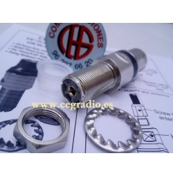 SIRIO CB-HDS 3/8-24 ADAPTADOR 3/8 A PL Hembra SO239 Vista Lateral PL