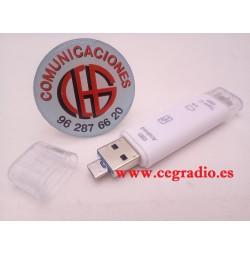4 en 1 Lector de tarjetas Micro SD OTG USB 2.0 Type-C Micro USB Vista General