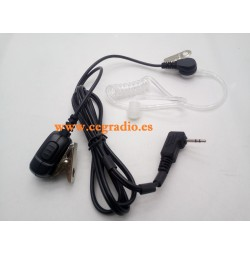 Micro Auricular Jetfon JR1808 Tubular Motorola 1 Pin
