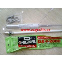 D_ORIGINAL V-2000-NW ANTENA BASE TRIBANDA 50 144 430 MHz Vista Horizontal