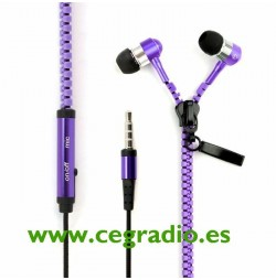 Auriculares Cremallera