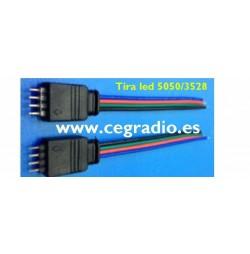 Tira Conector RGB sin soldar 3528/5050