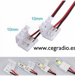 Tira Led doble conector con empalmes 5050/10mm