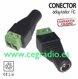 Adaptador DC M/H 5050 para tira led