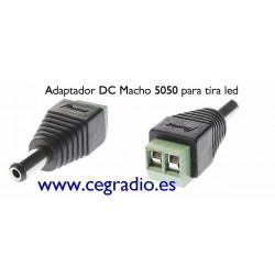 Adaptador DC Macho 5050 para tira Led