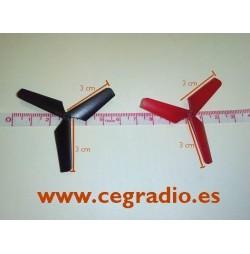 4 Hélices repuesto SYMA X04. 3cm