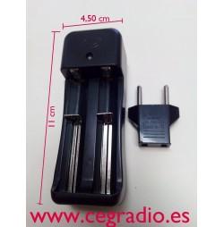 Cargador para AA, AAA, 18650, CR123,16500.