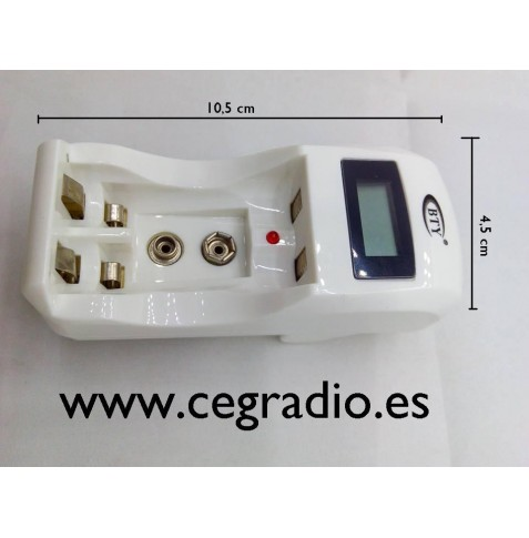 Cargador AA / AAA / 9V Ni-MH Ni-Cd