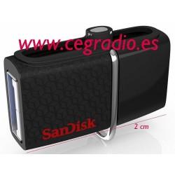 16 GB Sandisk Dual USB Drive 3.0 Vista Frontal
