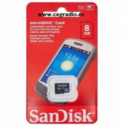 Sandisk 8 GB Tarjeta de Memoria Micro SD