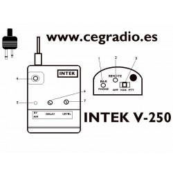Micro Auricular PTT VOX Intek V-250 Yaesu ICOM Midland Vista Detalles