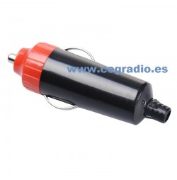 Conector Mechero Macho Negro Rojo Vista Lateral