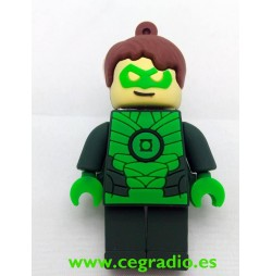 Memoria USB Lego Linterna Verde 8GB