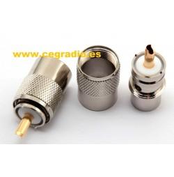 Conector PL259 Macho Cable RG213 RG8