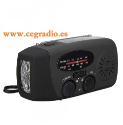 Flashlight Radio Solar Dinamo