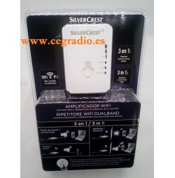 SilverCrest Repetidor Amplificador Wifi Dual Band Vista Blister