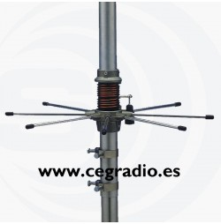Sirio 827 Antena CB 27Mhz Vista Inferior