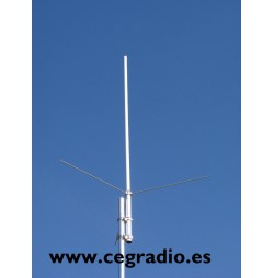 Sirio GPF-21N Antena Base Fibra VHF Vista Vertical