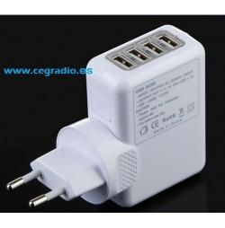 Cargador Universal 4 puertos USB