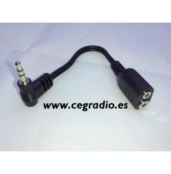 Conector convertidor jack 2,5mm Vista General