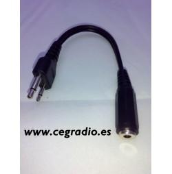Conector convertidor de Jack hembra 2,5 a micro midland