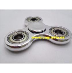 Spinner Plástico-Metal Anti Estrés Plata