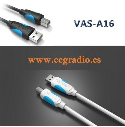 Cable USB Impresora Vention 1.5m 3m Vista General