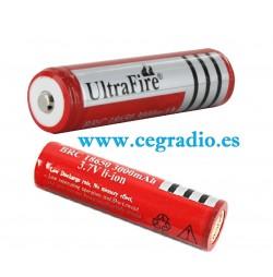 Bateria 18650 3000mAh Litio Protec