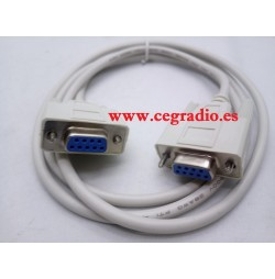 Cable Serie RS232 DB9 9Pin Conectores Hembra 1.5m Vista General