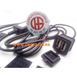 Cargador Impermeable Moto Coche Doble USB 5V 3A