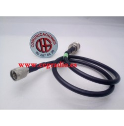 Cable RG58 Conector Mini UHF macho a conector N Hembra Vista General