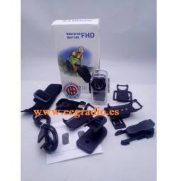 F38 Mini Cámara Acción Impermeable Buceo Bicicleta 1080p Full HD Vista Completa