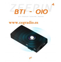 2 en 1 Receptor Transmisor de Audio Bluetooth Conmutable Vista General