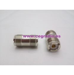 Conector Adaptador PL259 Doble Hembra Vista General
