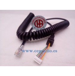 Cable Micrófono Reemplazo YAESU MH-48A6J FT-8800R FT-8900R Vista General