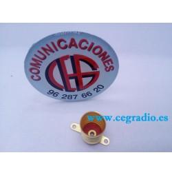 E10 Base Zócalo De Cobre para Bombilla 1 cm de diámetro