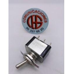 AC 125V 6A conmutador doble de palanca on/off