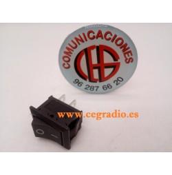 Interruptor Panel 2Pin ON/OFF de 21 x 15mm 6A/250V 10A/125V AC