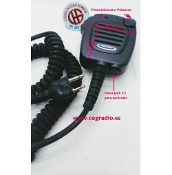 Micrófono Altavoz Jetfon JR-7001 Para Midland Rexon Kombix Yaesu ICOM Vista General