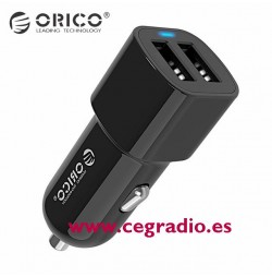 Cargador mechero doble USB Orico UCL-2U Vista Completa