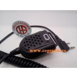 Micrófono Altavoz LED Para Radio Kenwood Dynascan Baofeng Vista General