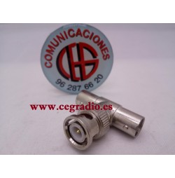 Conector Adaptador Triple BNC Macho a 2 BNC Hembra CCTV DVR