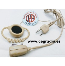 Micro Auricular Gran Confort Yaesu INTEK ICOM Midland Vista General