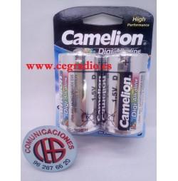 Pack Pilas Camelion Alcalinas LR20 Vista Frontal