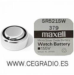 Maxell Pila Botón SR521SW 379