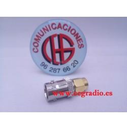 Adaptador Conector BNC Hembra a SMA Macho Vista Horizontal
