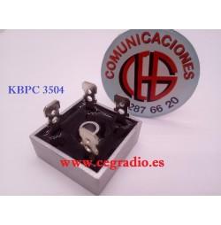 KBPC 3504 Puente Diodo Rectificador 35 A 400 V Vista Terminales