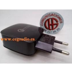 Cargador Rápido Inteligente USB QC 3.0 5V 3A Vista Lateral