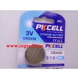PKCELL CR2430 Batería Pila Botón 3 V Litio