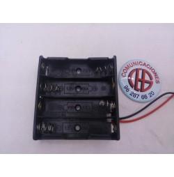 caja 4 pilas AA Vista Frontal